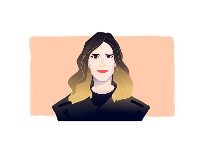 Headshot 01 art design head shot portrait digital illustration vector illustration illustrator