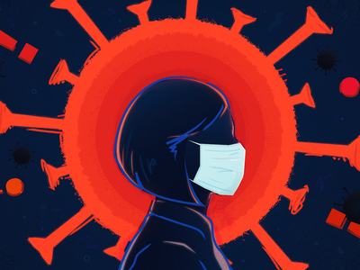 Coronavirus Podcast Episode Art editorial illustration face mask facemask photoshop illustrator coronavirus