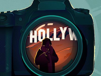 Hollywood Con Queen hollywood lens dslr camera podcast art editorial illustration illustrator illustration