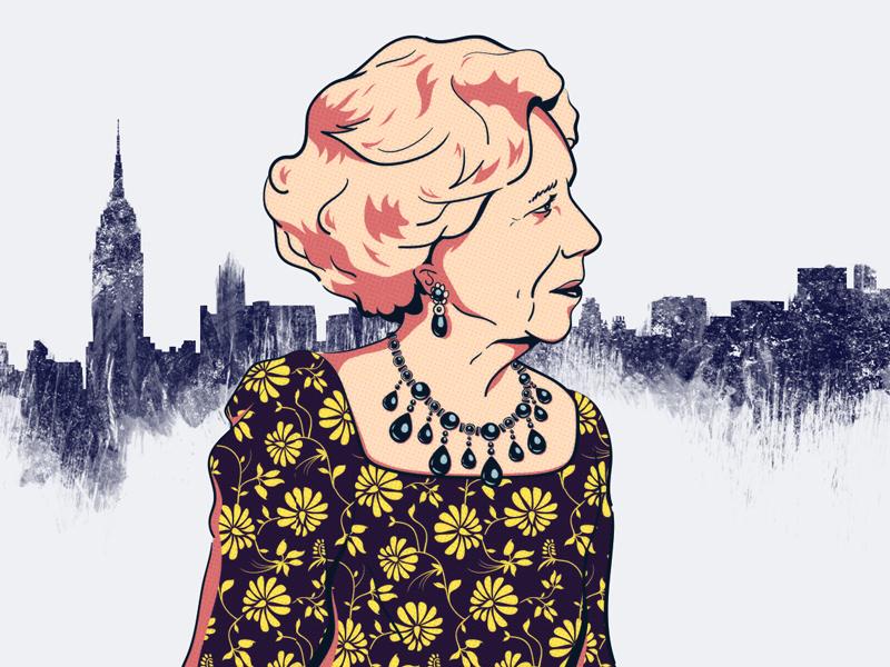 Brooke Astor Thumbnail new york city skyline nyc photoshop illustrator illustration