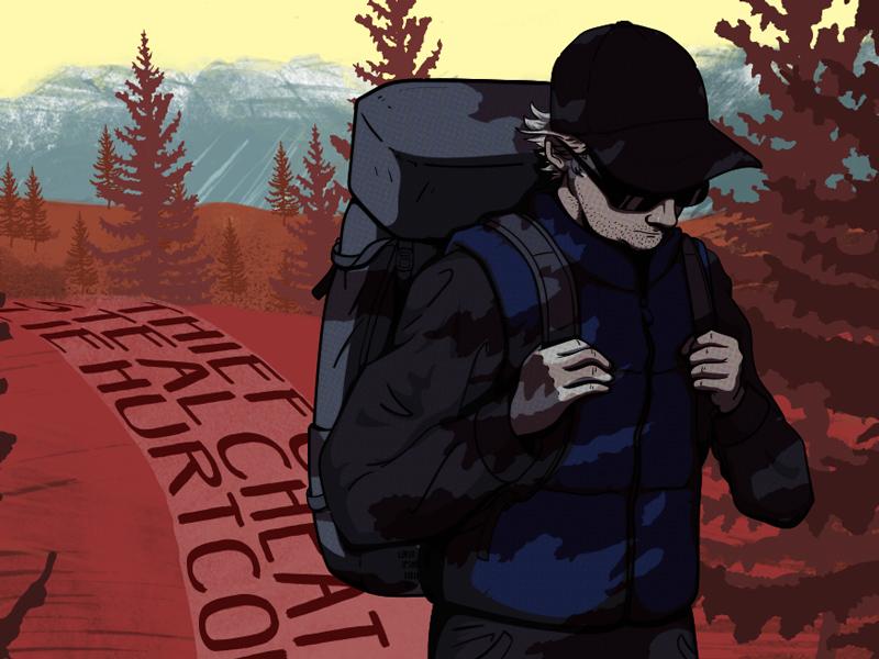 Hiker Illustration illustrator hiker photoshop illustration