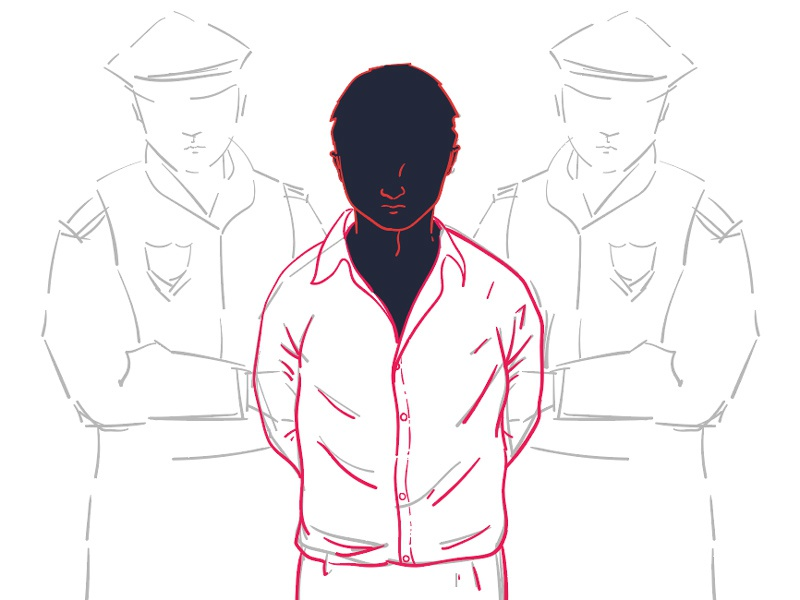 Arrest Sketch arrested police sketch photoshop illustrator