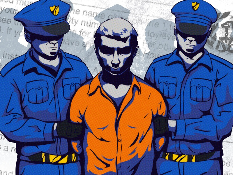 Arrested - Face Fix police arrest photoshop illustration illustrator