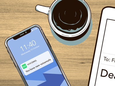New Messages messages iphone coffee illustration photoshop illustrator