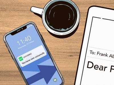New Messages illustration iphone coffee photoshop illustrator