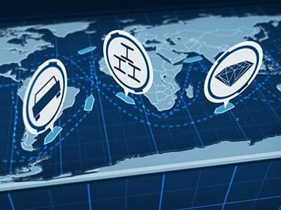 Digital Map Shipping Lanes