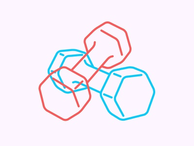 Dumbbell Icon gym fitness dumbbells icon illustrator