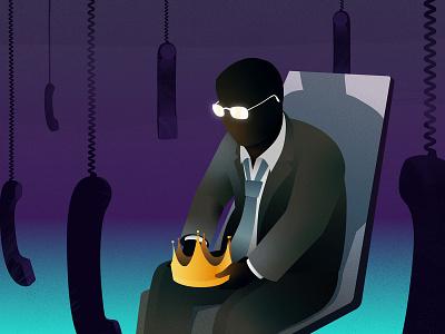 Robocall Kingpin Dethroned scammer photoshop vector illustration illustrator