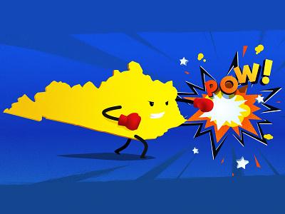 Kentucky Knockout kentucky pow punch photoshop illustration illustrator