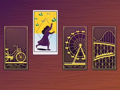 The Perfect Scam -  Tarot Cards design psychic editorial illustration tarot card vector illustrator