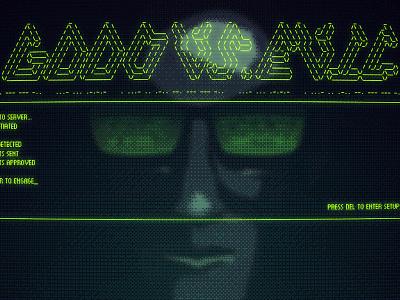 Hacker Screen digital illustration ascii bitmap retro ms dos hacker illustration photoshop illustrator