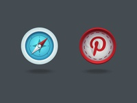 Website & Pinterest Social Media Icon