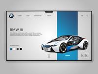 BMW Landing page design concept