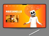 DJ Marshmello Landing page design concept