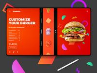 Burgerizzer landing page concept deign