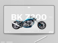 motorcycle landing page design concept