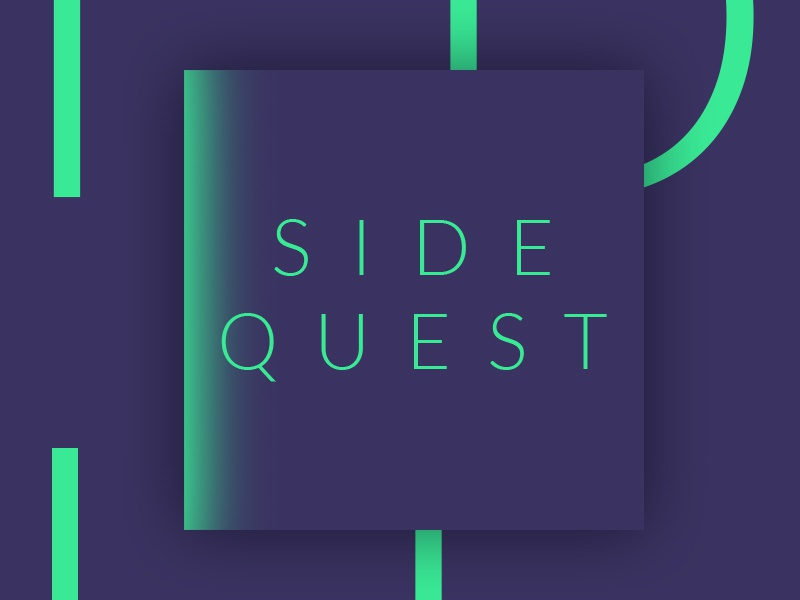 Sidequest Cover Art typography gaming soundcloud itunes cover art sidequest video games podcast
