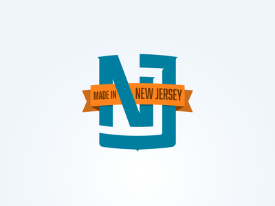 Made In New Jersey icon logotype vector illustration design typography branding