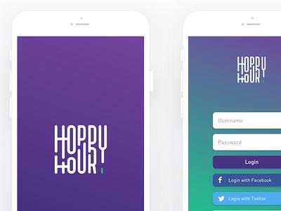 Hoppy Hour Home Brewing mobile app ui