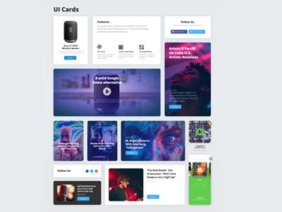 Ui Cards design cards ui design figma