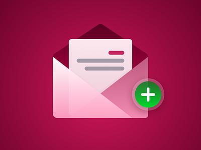 New Message Icon design icon ui figma