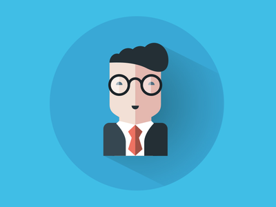 Upgrade Me Illustrations illustration digital training teacher suit glasses hairstyle