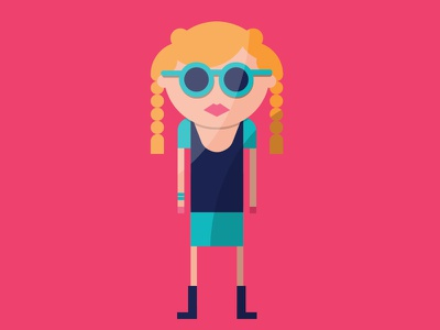 myCowo Infographic Illustrations rome infographic flat characters coworking italy girl spec blonde