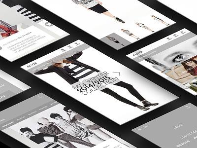 ALYSI   Website concept ui ux mobile brand italian responsive website fashion