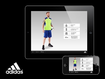 adidas training | app  sport apparel ui ux app derossi football adidas
