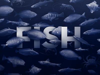 Fish Poster italy rome illustration restaurant sea fish