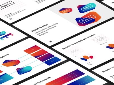 Project A Brand book logo brandbook design branding