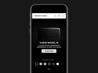 Horizn Studios Product Page - Mobile version