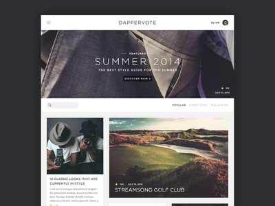Menswear/Gear Site menswear style classy fashion ultralinx minimal web social network