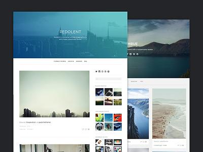 Redolent and Imbue Tumblr Themes tumblr theme blog grid minimal header ultralinx