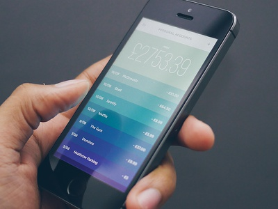 Money iPhone App Concept concept money app ui iphone color ios ultralinx minimal clean