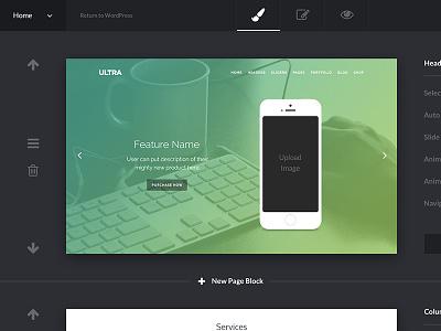 Wordpress Admin wordpress ui ux minimal dark clean