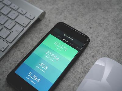 Analytics App analytics dashboard ui minimal iphone 6 ios ultralinx color gradient