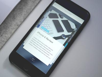 Article Cards App ios app minimal content magazine blog clean ultralinx