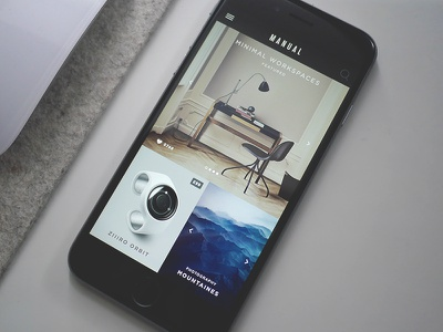 Manual iPhone App content magazine mobile iphone app blog minimal smart classy clean