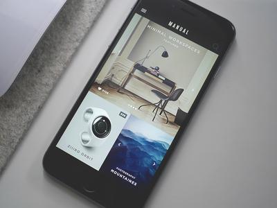 Manual iPhone App content magazine mobile iphone app blog minimal smart classy clean