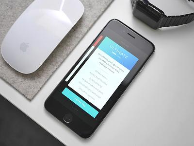 Pricing Cards iPhone app mobile ultralinx gradient ux ui minimal ios iphone