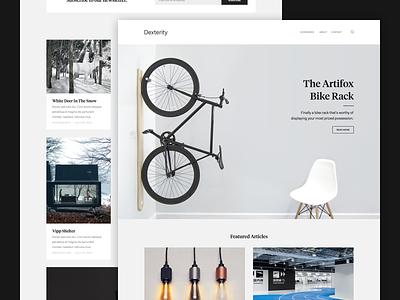 Dexterity Blog Magazine Layout grid masonry ui flat website app portfolio minimal classy blog magazine wordpress