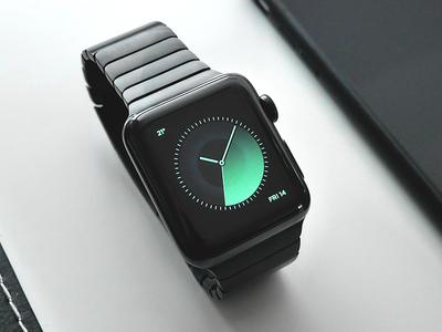 Apple Watch / Samsung Gear S2 classy dark black gradient ux ui face minimal watch apple
