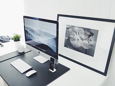 Autumn Workspace imac ultralinx setup mac minimal office workspace