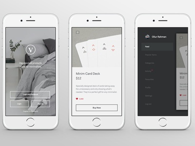 Minimal Product App clean minimal ux shopping shop ui iphone app commerce portfolio blog