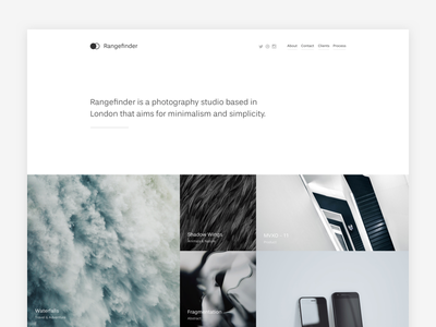 Rangefinder ux ui ultralinx minimalistic minimalism business photography blog minimal portfolio
