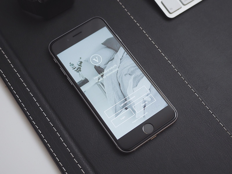 Minimal Product App Mockup iphone commerce ui app minimal