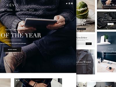 Xevo portfolio minimalism minimalistic minimal menswear classy style magazine theme blog wordpress