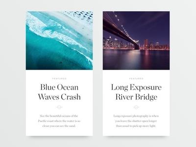 Article Cards ultralinx clean shadow card portfolio blog article minimal