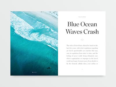 Large Article Card blog mobile ux ui minimalistic minimalist minimal magazine